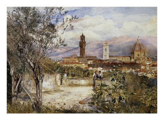 Florence, the Duomo from the Mozzi Garden-Henry Roderick Newman-Premium Giclee Print
