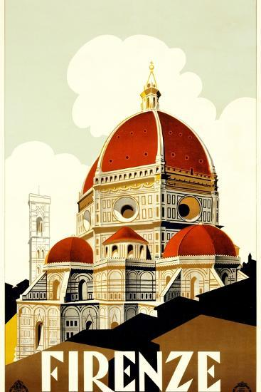 Florence Travel Poster, C.1930--Giclee Print