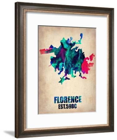 Florence Watercolor Poster-NaxArt-Framed Art Print