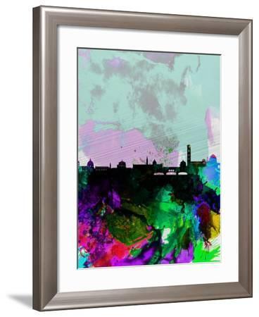 Florence Watercolor Skyline-NaxArt-Framed Art Print