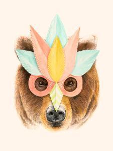 Bear Paper Mask by Florent Bodart