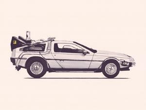 Delorean Back To The Future by Florent Bodart