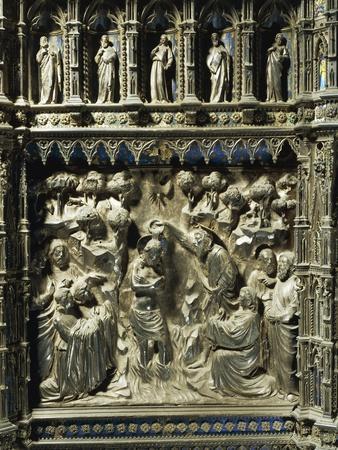 Detail Representing Stories from Life of Saint John the Baptist: Baptism of Jesus