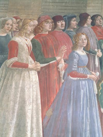 Florentine Onlookers, from the Cycle of St. Francis, Sassetti Chapel, 1483-Domenico Ghirlandaio-Giclee Print