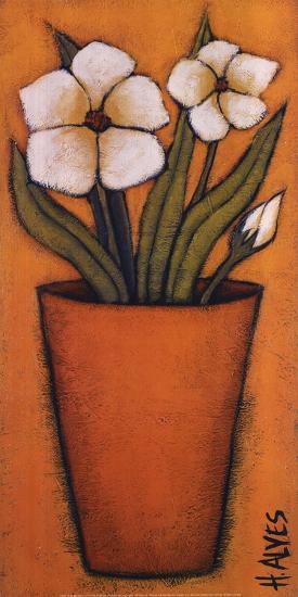 Flores Brancas II-H^ Alves-Art Print