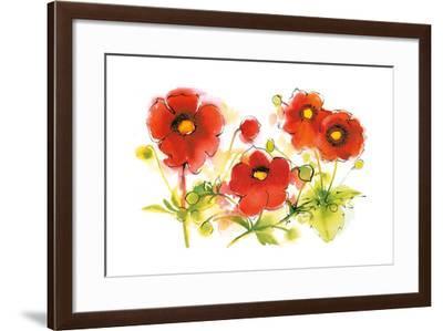 Flores Rojas VI-Shirley Novak-Framed Art Print