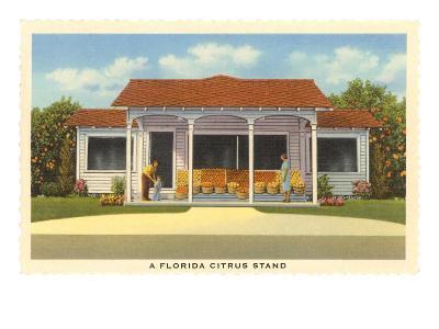 Florida Citrus Stand--Art Print