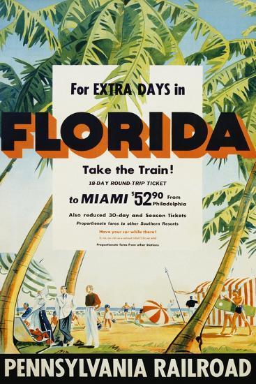 Florida, Pennsylvania Railroad Poster--Giclee Print