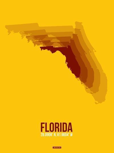 Florida Radiant Map 3-NaxArt-Art Print
