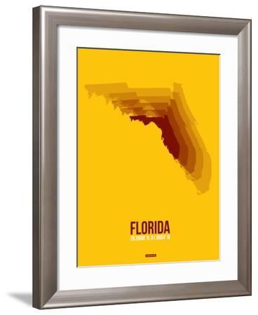 Florida Radiant Map 3-NaxArt-Framed Art Print