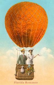 Florida Romance Couple in Orange Balloon