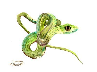 Florida Rough Green Snake-Suren Nersisyan-Art Print