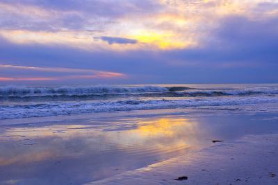 Florida, Sarasota, Crescent Beach, Siesta Key, Sunset over Ocean-Bernard Friel-Photographic Print