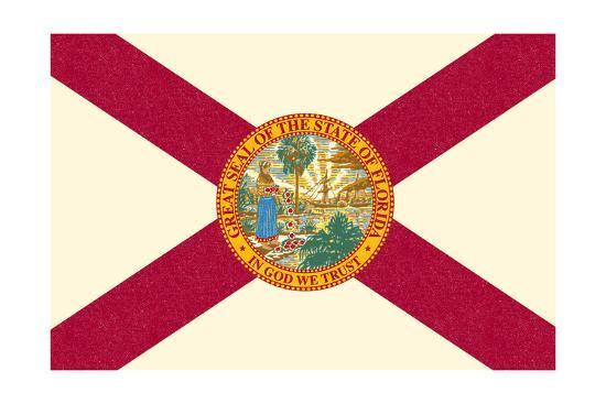Florida State Flag-Lantern Press-Art Print