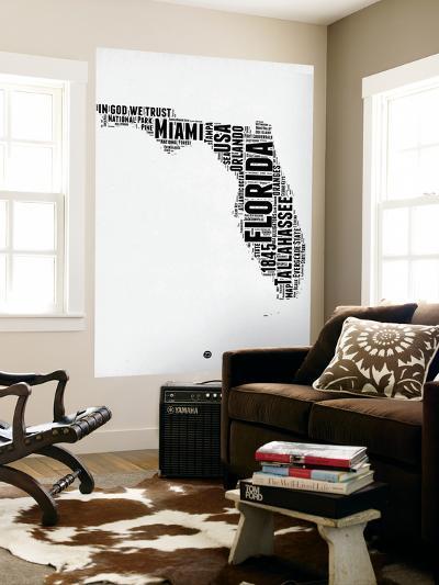 Florida Word Cloud 2-NaxArt-Wall Mural