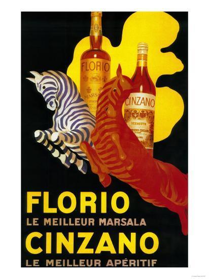 Florio Cinzano Vintage Poster - Europe-Lantern Press-Art Print
