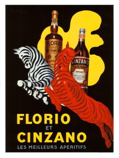 Florio et Cinzano Apertifs-Leonetto Cappiello-Giclee Print