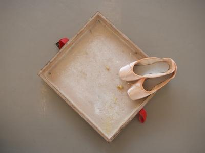 Ballet shoes waiting for the show
