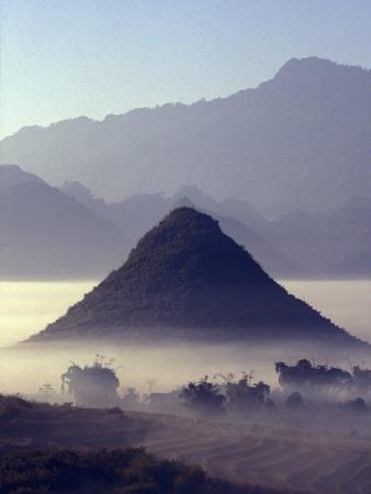 Mist Rising Over Fields