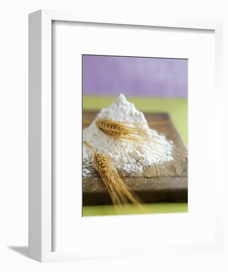 Flour and Wheat on Cutting Board-Leigh Beisch-Framed Photographic Print