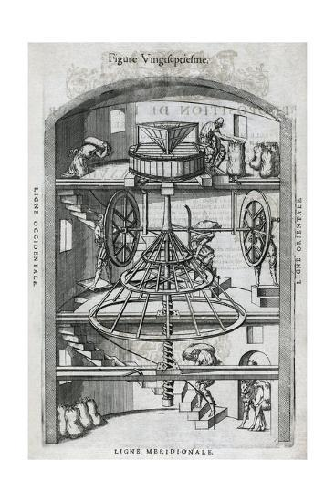 Flour Mill, 16th Century Artwork-Middle Temple Library-Giclee Print