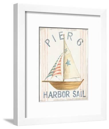 Floursack Nautical VII-Danhui Nai-Framed Art Print