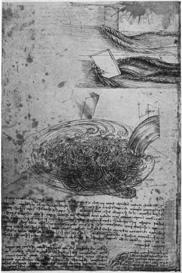Flow of Eddies in a Waterfall, 1509-1511-Leonardo da Vinci-Giclee Print