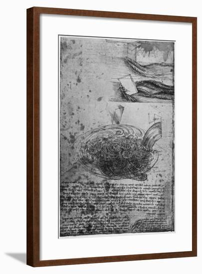 Flow of Eddies in a Waterfall, 1509-1511-Leonardo da Vinci-Framed Giclee Print