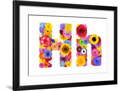 Flower Alphabet Isolated On White - Letter H-tr3gi-Framed Art Print