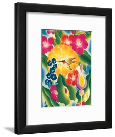Flower and Hummingbird - Moore-McCormack Lines--Framed Art Print