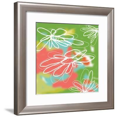 Flower and Water 3-Jan Weiss-Framed Art Print