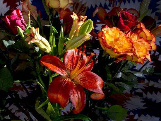 Flower arrangement-Charles Bowman-Photographic Print