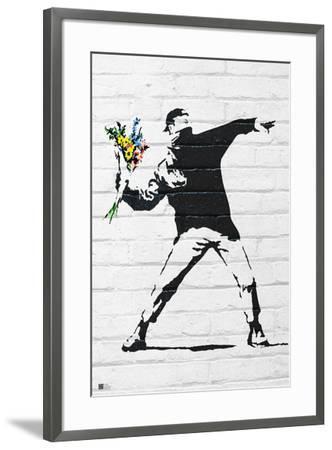 Flower Bomber-Banksy-Framed Art Print