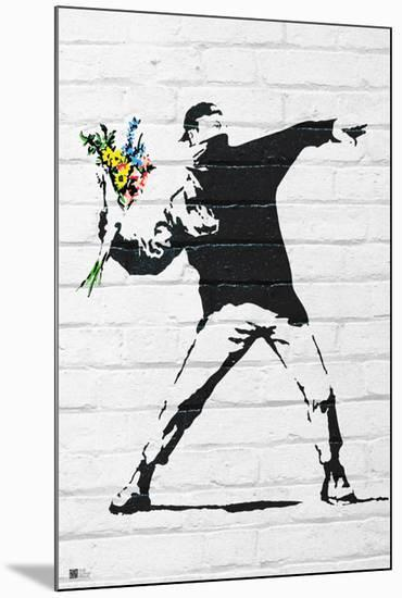 Flower Bomber-Banksy-Mounted Art Print