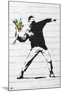 Flower Bomber-Banksy-Mounted Print