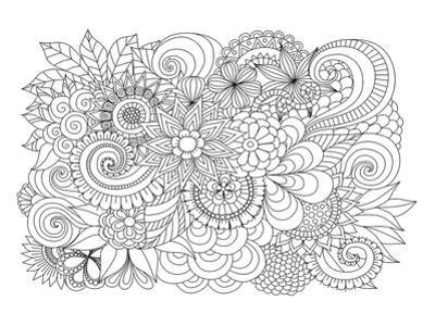 Flower Bouquet Coloring Art