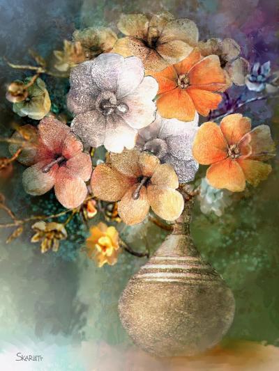 Flower Bunch-Skarlett-Giclee Print