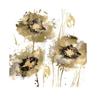 Flower Burst Trio in Gold-Vanessa Austin-Giclee Print