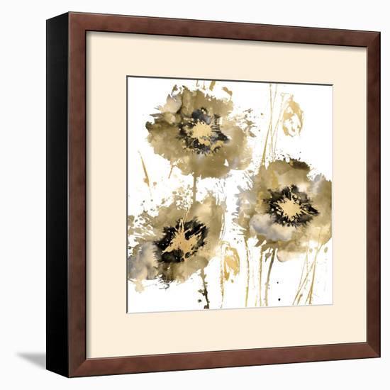 Flower Burst Trio in Gold-Vanessa Austin-Framed Giclee Print