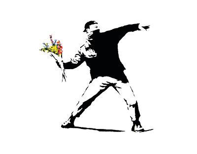 Flower Chucker-Banksy-Art Print