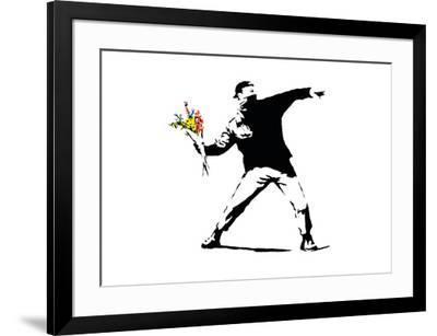 Flower Chucker-Banksy-Framed Giclee Print