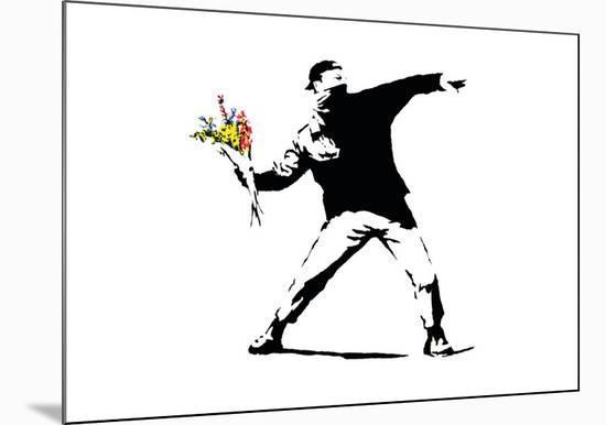Flower Chucker-Banksy-Mounted Giclee Print