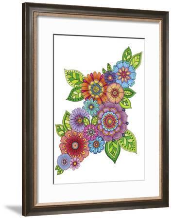 Flower Cluster - Color-Hello Angel-Framed Giclee Print