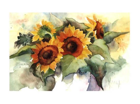 Flower Composition IV-Franz Heigl-Art Print