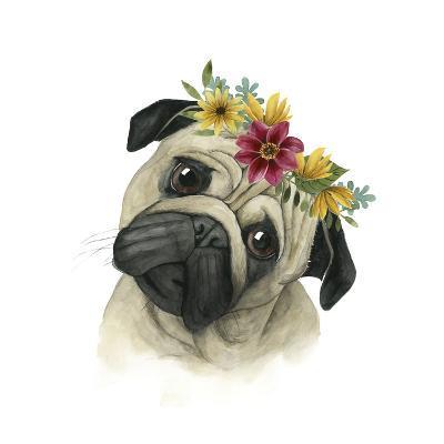 Flower Crown Pup I-Grace Popp-Art Print