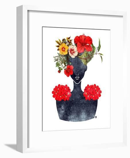 Flower Crown Silhouette I-Tabitha Brown-Framed Art Print