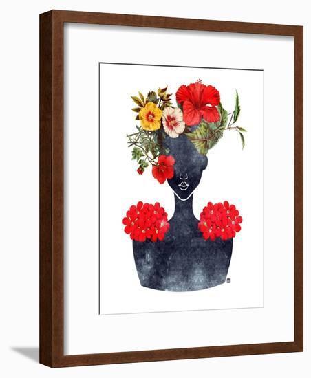 Flower Crown Silhouette I-Tabitha Brown-Framed Art Print