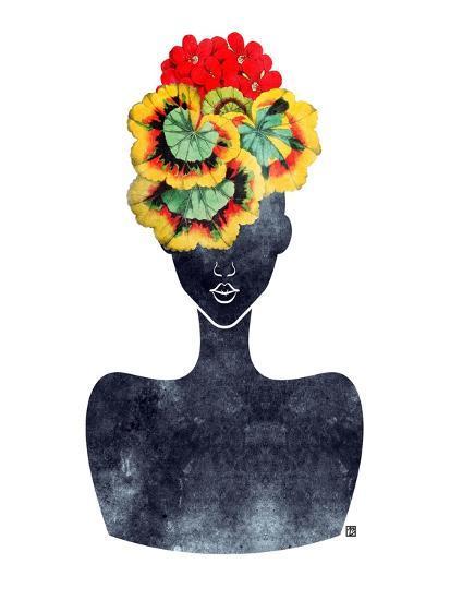 Flower Crown Silhouette IV-Tabitha Brown-Art Print