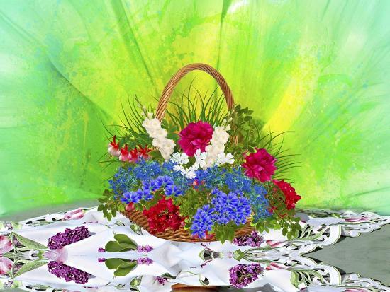 Flower Design Oc1-Ata Alishahi-Giclee Print