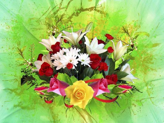 Flower Design Oc6-Ata Alishahi-Giclee Print